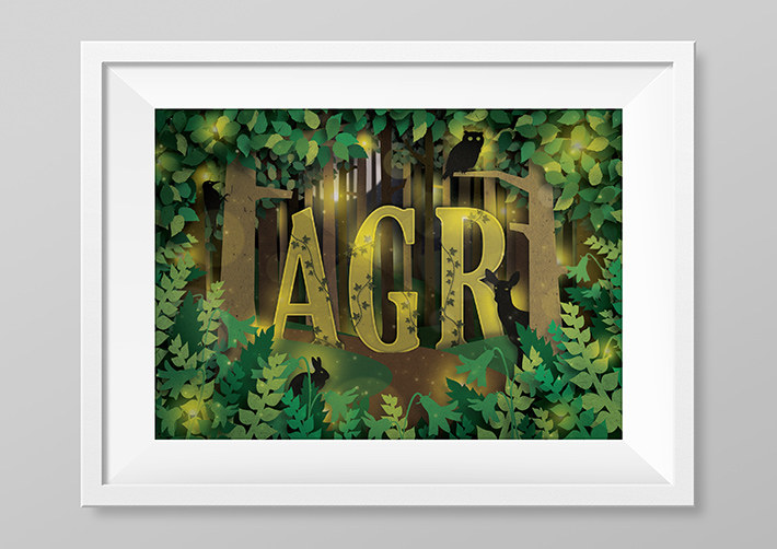 enchanted_forest_initials_print_frame